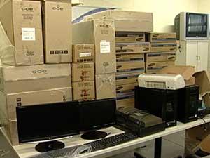 Equipamentos foram recuperados pela Polícia Militar.  (Foto: Reprodução/TV Integração)