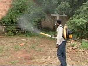 Agentes trabalham no combate ao mosquito da dengue.  (Foto: Reprodução/TV Integração)