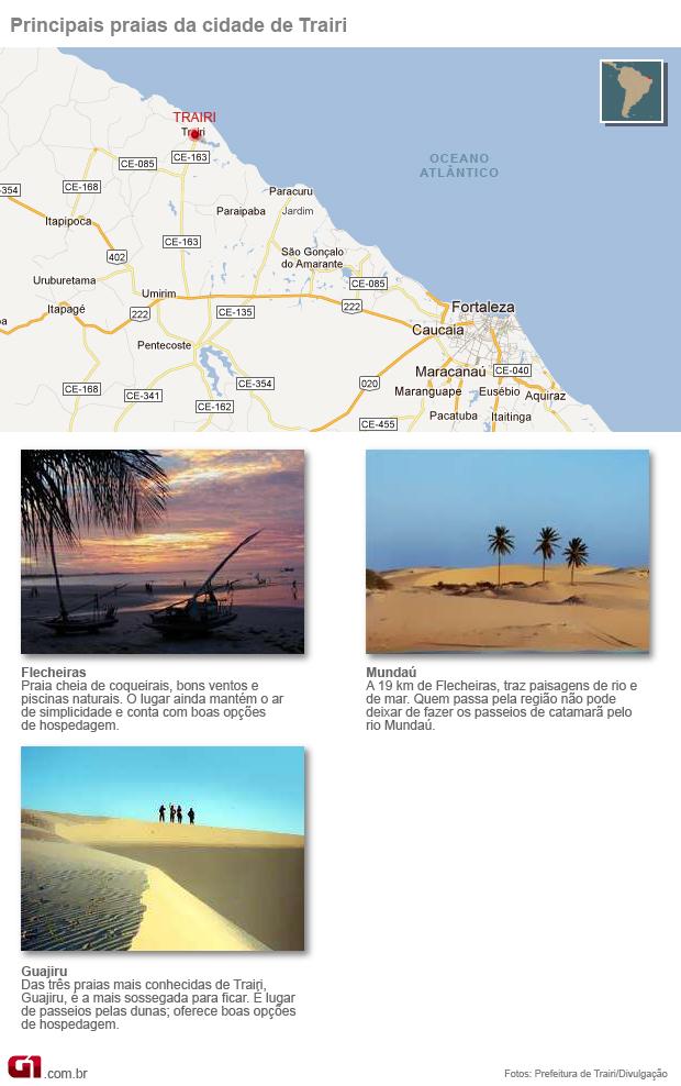 mapa turismo ceara (Foto: Editoria de Arte/G1)