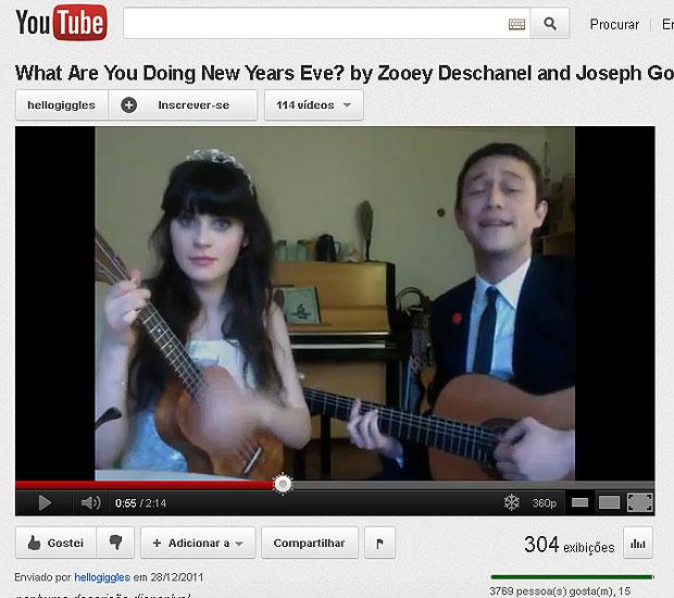 Zooey Deschanel e Joseph Gordon-Levitt (Foto: Reprodução/Youtube)