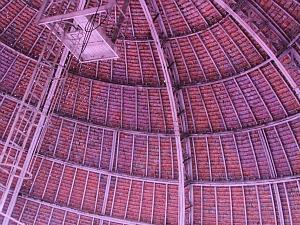 Estrutura interna da cúpula do Teatro Amazonas (Foto: Frank Cunha/G1 AM)