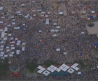 Multidão lota a Praia de Copacabana (Reprodução/TV Globo)