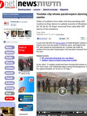 Matéria aborda vídeo de soldados (Foto: Reprodução)