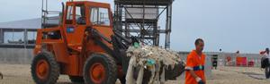 Comlurb recolhe 645 toneladas de lixo após o réveillon (Roberto De Martin/G1)
