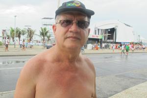 Orla do Rio segue movimentada após a festa da virada (Roberto De Martin/G1)