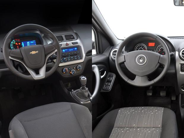 Além de ter o painel mais moderno, Cobalt tem volante com melhor ergonomia (Foto: Divulgação)