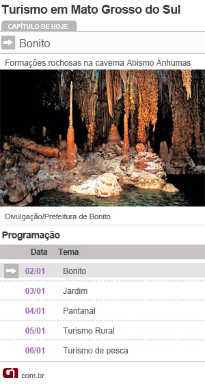 Calendário Turismo Série Mato Grosso do Sul Bonito (Foto: Arte/G1)