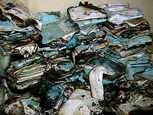 Cerca de 300 processos foram queimados e 200 sofreram danos parciais (Foto: Reprodução TV Integração)