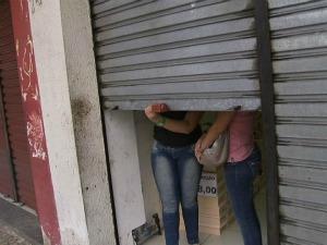 Comércio, instituições públicas e escolas fecharam as portas mais cedo. (Foto: Reprodução / TV Verdes Mares)
