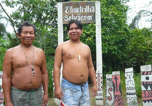 Trilha etnoambiental (Foto: Carlos Eduardo Matos/G1 AM)
