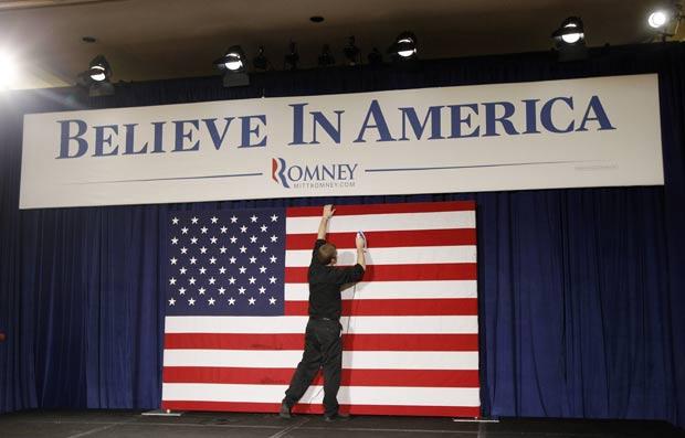 Cena ocorreu durante o caucus em Iowa. (Foto: Charles Dharapak/AP)