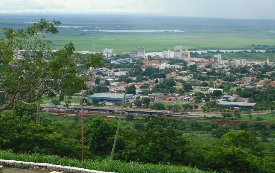 Vista parcial da cidade de Corumbá, a 444 quilometros de Campo Grande