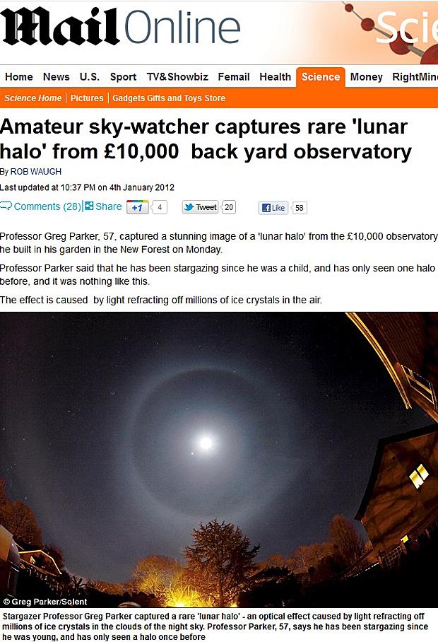 Halo (Foto: Daily Mail/Reprodução)