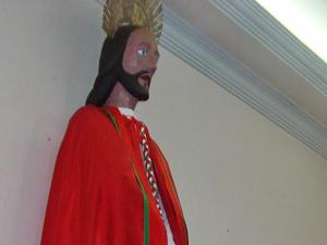 """Imagem do São Bom Jesus conhecida como """"Santo Fujão"""" (Foto: Weder Paes/Arquivo Pessoal)"""