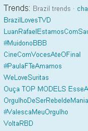 Trending Topics no Brasil às 12h09 (Foto: Reprodução)