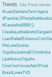Trending Topics em SP às 12h53 (Foto: Reprodução)