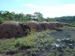 Carvoaria em região onde vivem mais de 15 mil índios no Maranhão (Foto: Divulgação/Navarro/Cimi)