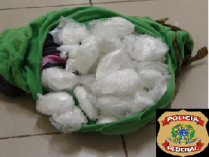 About 2.2 kg (4.4 lbs) pure cocaine in 49 bundles seized at the Pinto Martins International Airport in Fortaleza Brazil. An Italian man was about to board a flight to Rome when he was apprehended with the cocaine.