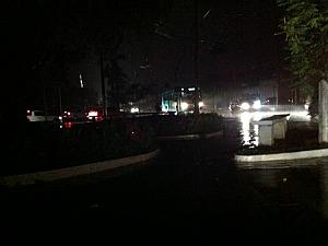 Sinalização de trânsito ficou prejudicada (Foto: Muniz Neto/G1 AM)