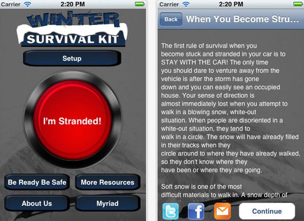 App é gratuito e ainda dá dicas de como montar um kit de sobrevivência (Foto: Divulgação)
