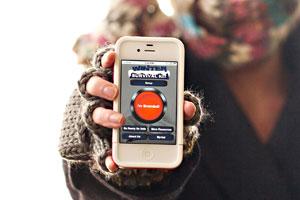 Aplicativo para iPhone promete ajudar quem ficar preso em tempestades de neve (Foto: Amber Hunt/AP)