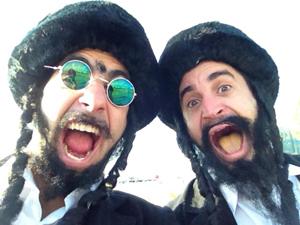 Yohay Sponder e Meni Malca, comediantes israelenses (Foto: Arquivo pessoal)