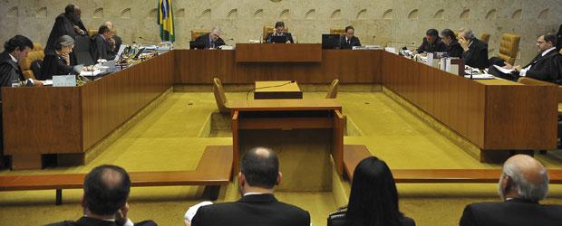 Ministros do STF durante julgamento em novembro de 2011 da Lei da Ficha Limpa (Foto: Valter Campanato / Agência Brasil)