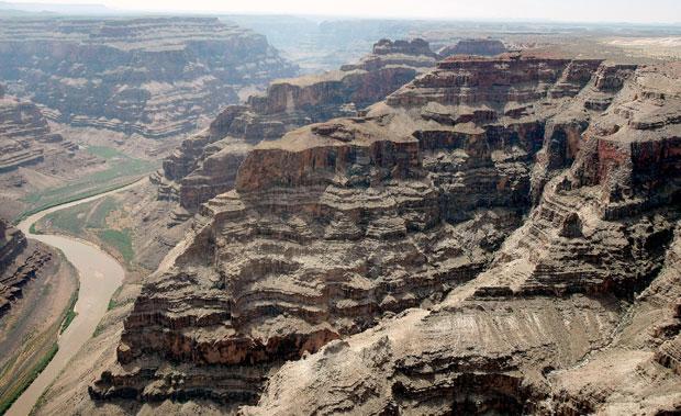 Vista aérea do Grand Canyon em foto de junho de 2009 (Foto: AFP)