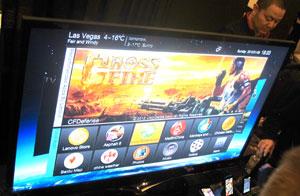 Lenovo apresenta seu primeiro televisor na CES 2012 (Foto: Gustavo Petró/G1)