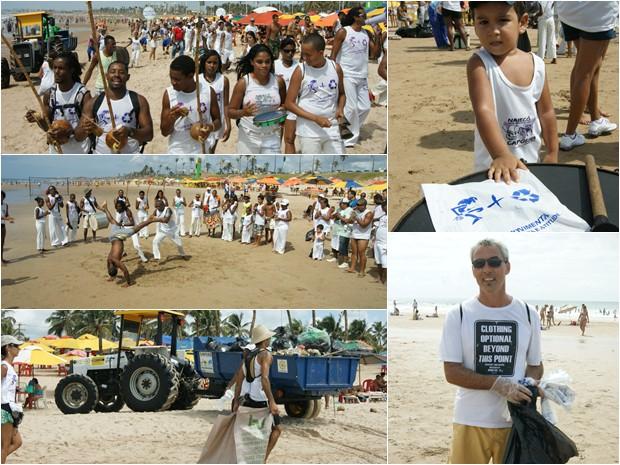 Limpeza de praias organizada pelo Festival de Verão Salvador (Foto: Camila Suélen)