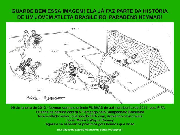 Homenagem de Mauricio de Souza a Neymar (Foto: Estúdio Mauricio de Souza Produções/Divulgação)