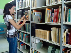 Biblioteca (Foto: Adriane Souza/G1)