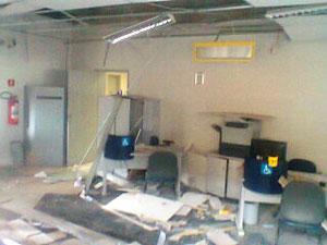 Assalto a banco em Canudos (Foto: Romulo Rebelo/Canudosnet.com)