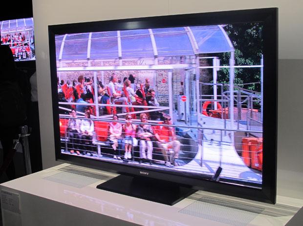 Televisão da Sony com tecnologia Crystal LED, com 6 milhões de pequenas luzes de LED (Foto: Gustavo Petró/G1)