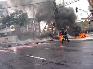 Estudantes protestam em Vitória (Foto: Reprodução / TV Gazeta)