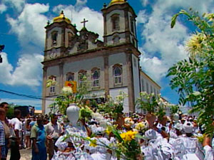 Lavagem do Bonfim (Foto: Reprodu&#231;&#227;o/TV Bahia)