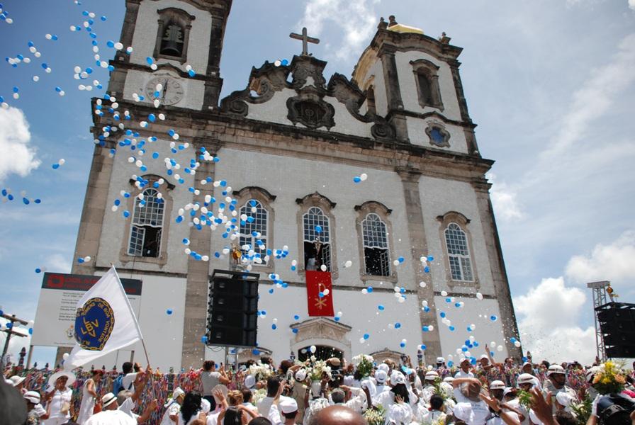Basílica do Senhor do Bonfim é o destino sagrado dos devotos, baianos e turistas,  nesta quinta-feira.