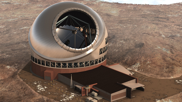 Telescópio será instalado no topo do vulcão Mauna Kea, no Havaí. (Foto: Thirty Meter Telescope / AP Photo)