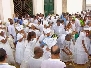 Fé e devoção marcam história da Lavagem do Bonfim na Bahia (Foto: Reprodução/TV Bahia)