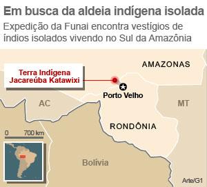 índios isolados na Amazônia (Foto:  )