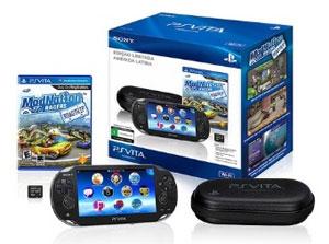 Pacote para Ameria Latina do PlayStation Vita, que inclui o Brasil, virá com cartão de memória e game 'Modnation Racers' (Foto: Divulgação)