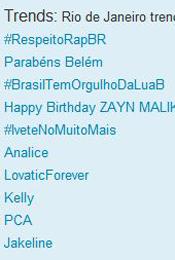 Trending Topics no Rio às 12h12 (Foto: Reprodução)
