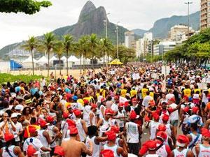 Bloco de carnaval na Zona Sul do Rio (Foto: Raphael Braga / Divulgação Riotur)