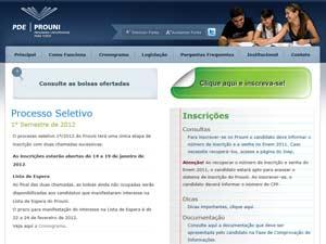 Site do Prouni (Foto: Reprodução)