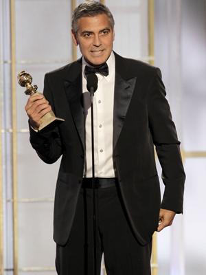 Gergoe Clooney ganhou prêmio de melhor ator por 'Os descendentes' (Foto: AP)