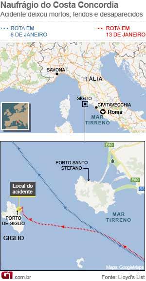mapa  (Foto: AP)