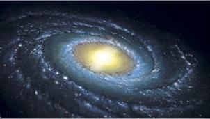 A 'cor' da Via Láctea é, na verdade, o resultado de um jogo de luz. (Foto: Nasa / via BBC)