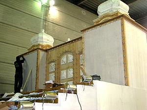 Alegorias terá réplica da igreja de Nosso Senhor do Bonfim (Foto: Rodrigo Vianna / G1)