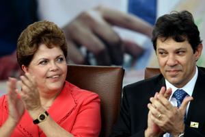 A presidente Dilma Rousseff e o ministro da Educação, Fernando Haddad, em cerimônia em Angra dos Reis (Foto: Wilton Junior / AE)