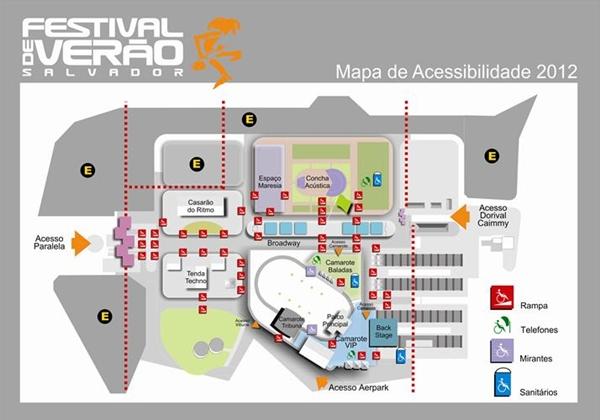 Acessibilidade no Festival de Verão Salvador 2012 (Foto: Divulgação)